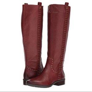 Sam Edelman Prina Tall Riding Boots Studded Brown